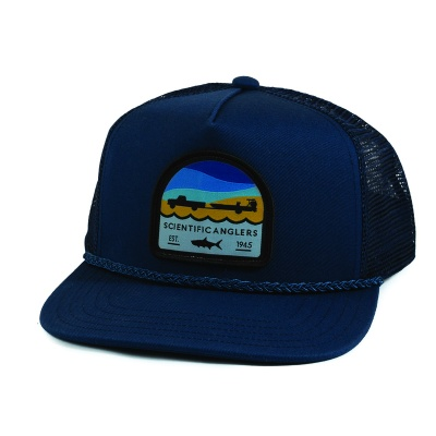 Scientific Anglers Hat Flat Brim Tarpon Patch Navy - Navy