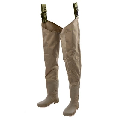 Snowbee - 210D Wadermaster Nylon Thigh Waders - Cleated Sole