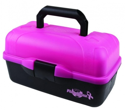 Flambeau 2 Tray Pink Frost Tackle Box