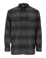 Simms Coldweather Shirt - Black Slate Plaid