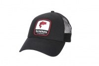 Simms Bass Patch Trucker - Black