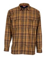 Simms Coldweather Shirt - Dark Bronze Admiral Plaid