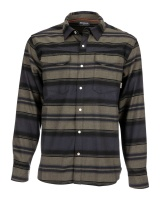 Simms Gallatin Flannel Shirt - Carbon Stripe