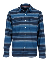 Simms Gallatin Flannel Shirt - Rich Blue Stripe