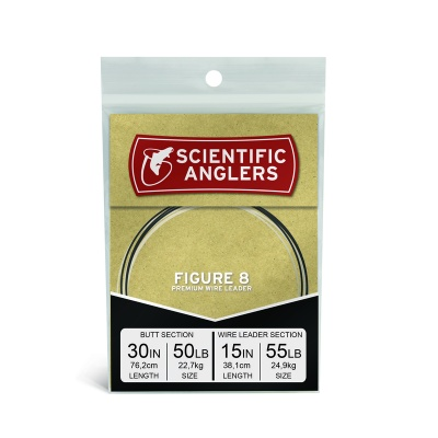 Scientific Anglers Apex Predator Figure 8 Leader 30'' 50lb FC w / 15'' - 55lb NiTi 1X7 Wire